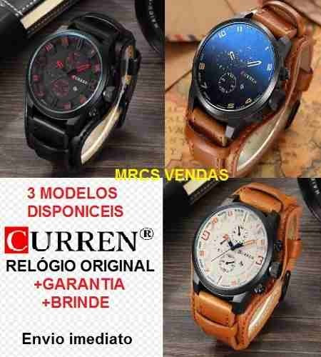 Relógio Curren Original Com Garantia Brinde- Super Luxo