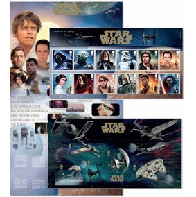 Star Wars - Exclusivo Selos E Folha Completa - Royal Mail