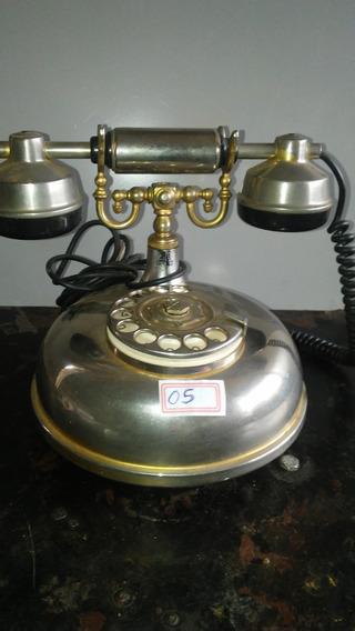 Telefone Antigo Feito De Inox Americano 05