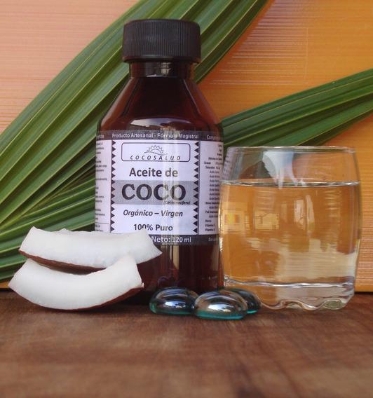 Aceite Coco Organico Extra Virgen 120ml 100% Puro