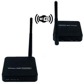 Extensor Hdmi Tv Sinal Sem Fio Wifi Alcance 100m Receptor Tv