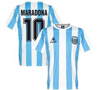 Camisa Argentina Retrô 1986 Maradona #10 - Pronta Entrega