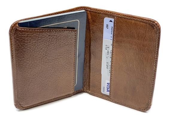 Porta Pasaporte Cuero Hombre Mujer Tarjetero Viaje Organizador Porta Documentos Modelo 0066