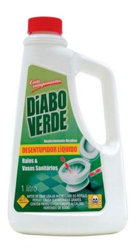 Desentupidorde Pias E Ralos Diabo Verde De 1 Litro