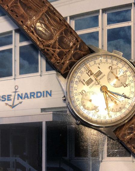 Relógio Crono Ulysse Nardin Tri Compax Calendário Triplo