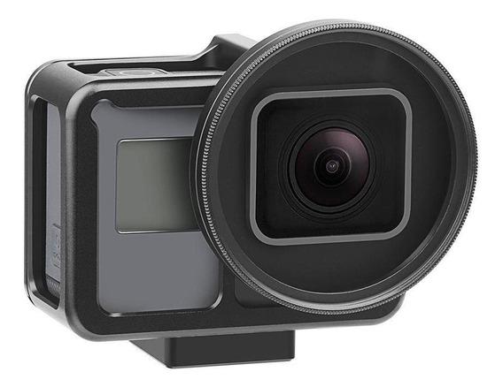 Frame Em Alumínio + Lente Uv 52mm Gopro Hero 7 Black