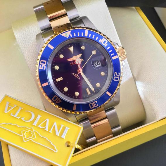 Relógio Invicta Pro Diver Fundo Azul Masculino Original