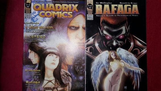 Quadrix Comics #3 E Rafaga #1 Fortaleza Ceará 2010