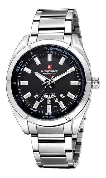Relógio Masculino Naviforce Aço Inoxidável Esportivo Casual Japan Movement Quartz