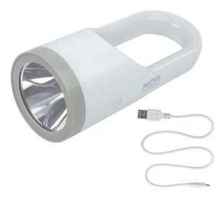 Lanterna 160 Lumens Luminária Recarregável Branca Led Bivolt - Mor 009187 Full