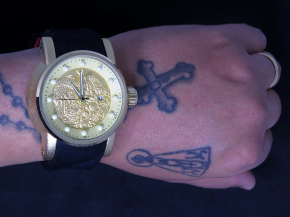 Relógio Masculino Dourado Yakusa Grande Pesado + Caixa + Fréte Grátis