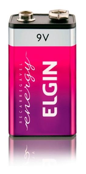 Bateria Elgin Recarregável 9v (82215) 250mah