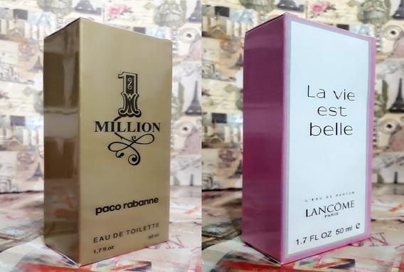 Kit Promoção Perfumes Masc/fem,1 Million /la Vie Este Belle