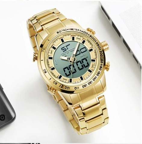 Relógio Masculino Digital Luxo Todo Funcional