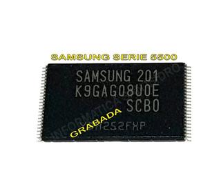 Memoria Nand Flash Un32d5500 Un40d5500 Un46d5500 K9gag08u0e - Grabada