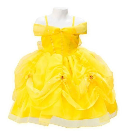 Vestido Bella Y Bestia Princesa Disfraz