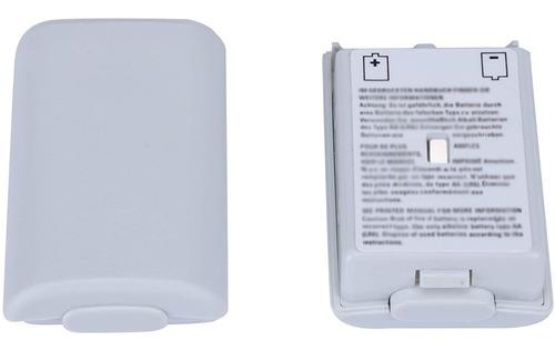 Imagen 1 de 2 de Tapa Trasera De Pilas Mando Joystick Control Xbox 360 Blanca