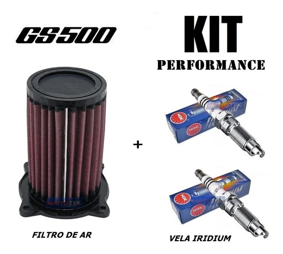 Kit Filtro De Ar K&n Kn E Vela Iridium Suzuki Gs500 Gs 500