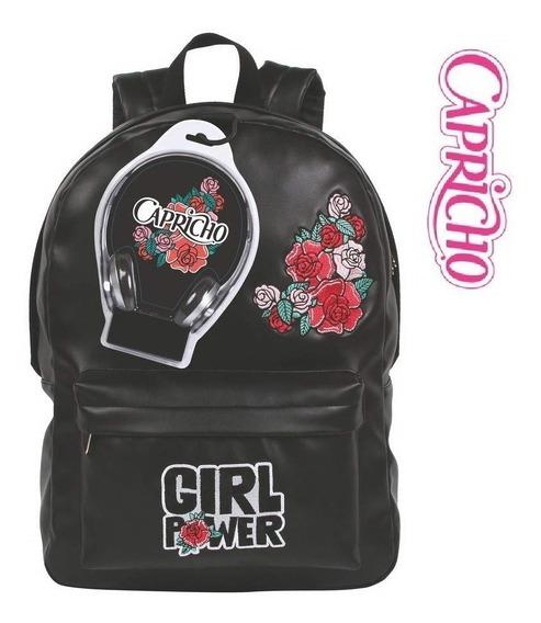 Mochila Capricho Sound Girl Power Dmw Original