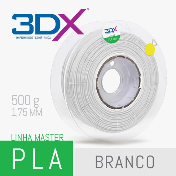 Filamento Pla Branco 1,75 Mm 500g Full