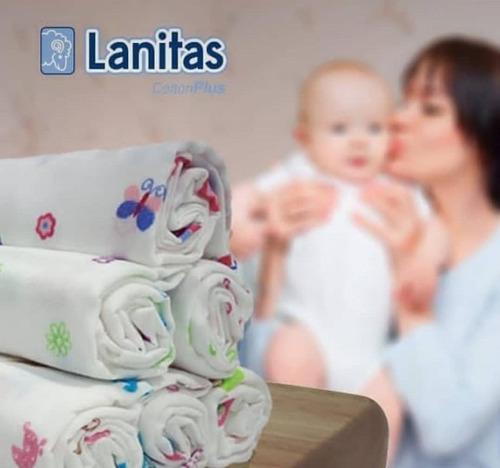 Pañales De Tela Para Bebe 100% Algodón Marca  Lanita
