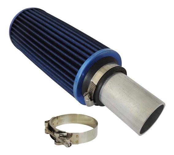 Filtro De Ar Esportivo + Tubo De Alumínio + Abraçadeira