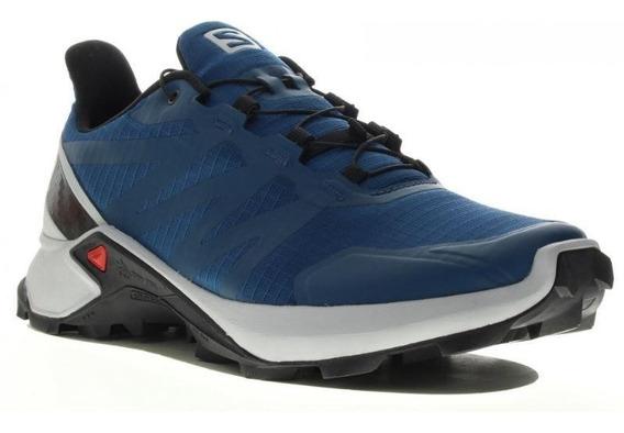 Zapatillas Salomon Supercross Trail Running Azul Gris Dep