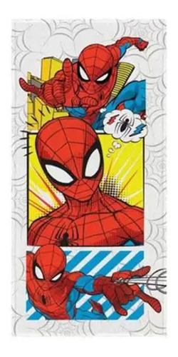 Imagem 1 de 2 de Toalha Felpuda De Banho Estampada Spider Man 60 Cm X 1,20 M