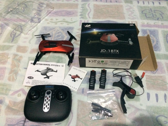 Pocket Drone Jd 18tx Com Camera E Controle Remoto