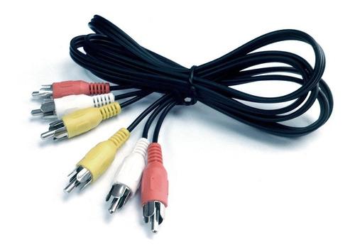 Cable Rca 3 A 3 Macho Macho Rojo Bla Ama 1.5 Mts E7060+