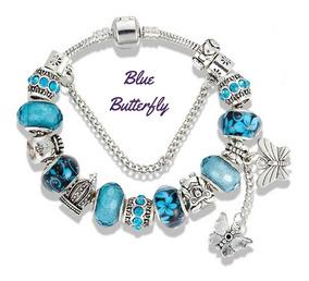 Pulseira Bracelete Berloques Banhada Prata + Brinde Promoção