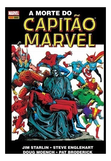 A Morte Do Capitão Marvel Panini Novo Lacrado Jim Starlin