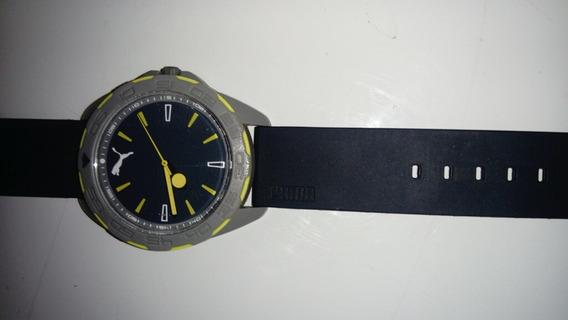 Reloj Puma Originalverde Agua, Gris Y Amarillo
