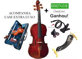 Violino Eagle 4/4 Ve441 Breu, Arco+case Luxo+espaleira