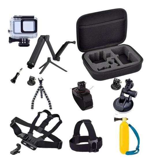 Kit Aventura Gopro Hero Acessórios Para Go Pro 5 6 7 Black