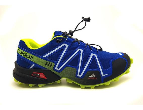 Tênis Barato Speedcross Promoção C/ Travas Corrida/caminhada