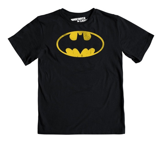 Playera Máscara De Látex Niño Batman Logo 89 ¡envio Gratis !