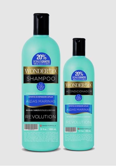 Shampoo Y Acondicionador Wonder Tex Revolution Algas Marinas