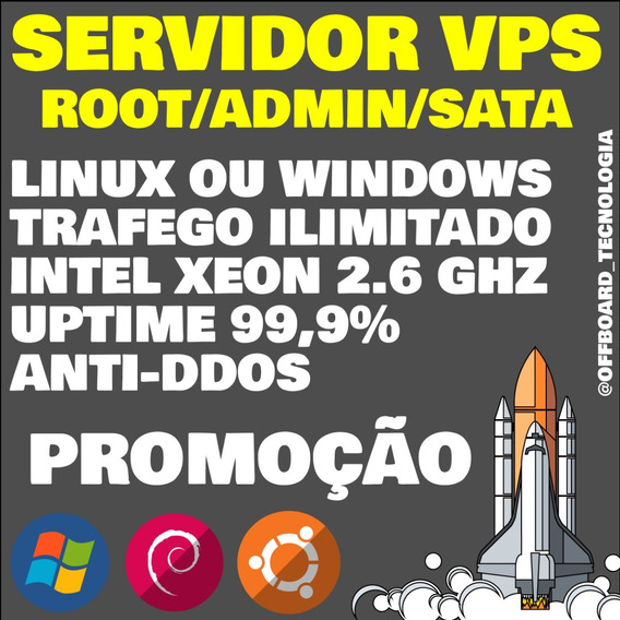 Servidor Vps Xeon Kvm 2gb Ram 500gb Hd - Windows/linux/ssh