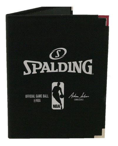 Carpeta Nba Binder Spalding Black 8.5x11