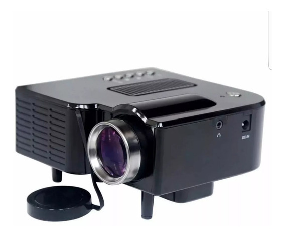 Mini Projetor Portatil Led 60 Pol Lcd 1920x1080 Uc28