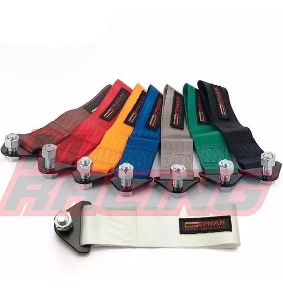 Engate Reboque Esportivo Tecido Tow Strap Arrancada Fueltech