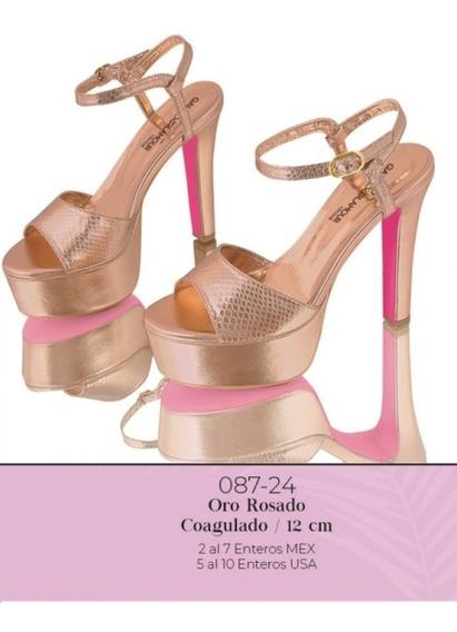 Zapatilla Oro Rosado 087-24 Cklass P-v 2020