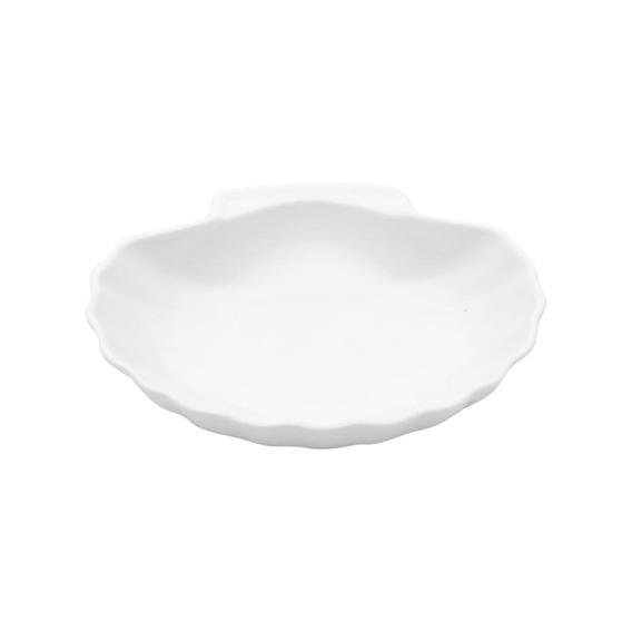 Porta Anéis Cerâmica Afins Shell Basics 12x11,7x3 Cm