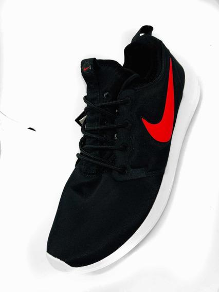 Tenis Nike Roche Negro-rojo