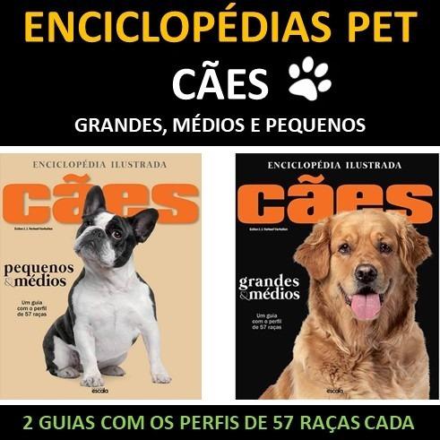 Enciclopedias Livros De Raças Cães Pequenos Médios Grande