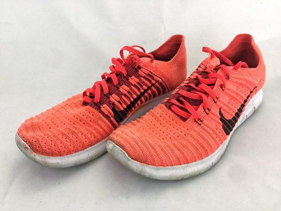 Tênis Nike Free Rn Fryknit Laser Orange Original Semi Novo