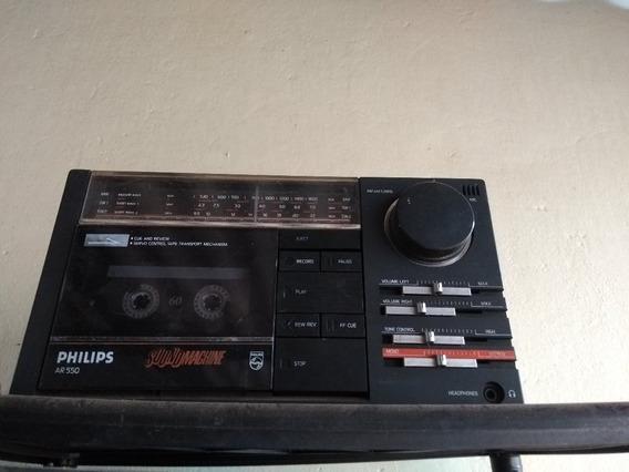 Rádio Gravador Philips Ar550 C/ Reparos A Fazer.