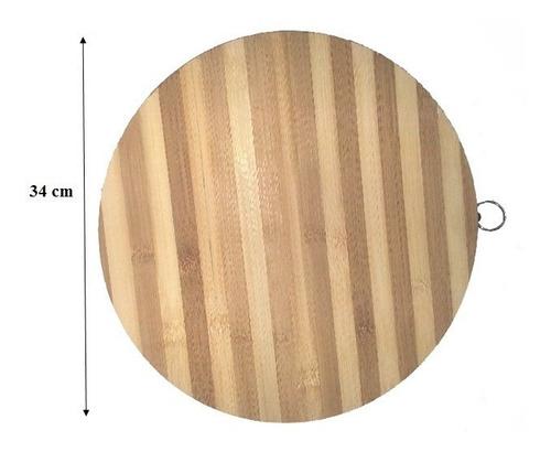 Tabla Bamboo Redonda Para Picar D 34 H 1.8cm