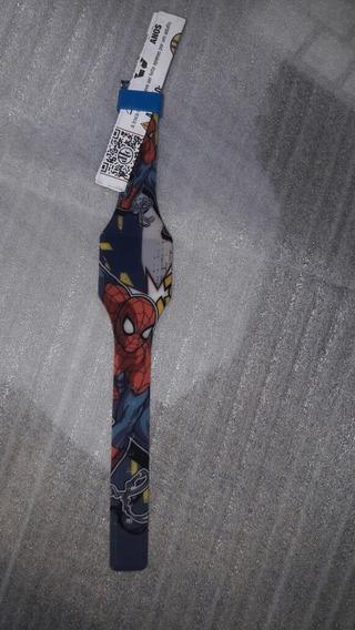 Relógio De Pulso Digital Homen Aranha Spider Man Envio Imediato